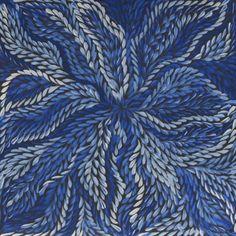 Aboriginal Artwork by Dulcie Long Pula / Bush Leaves (5A) - 9065357