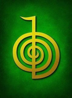 Cho Ku Rei Digital Art - Cho Ku Rei - Golden Yellow On Green Reiki Usui Symbol by Cristina-Velina Ion Simbolos Do Reiki, Reiki Room, Learn Reiki, Reiki Chakra, Reiki Treatment, Self Treatment, Anchor Charts, Reiki Benefits, What Is Reiki