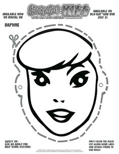 Free Printable Scooby Doo Daphne Mask