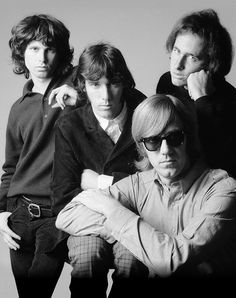 The Doors were an American rock band formed in 1965 in LA. Lead Vocalist Jim Morrison died in Paris while in the Bathtub on July Blues Rock, Beatles, James Jim, Ray Manzarek, The Doors Jim Morrison, American Poets, Light My Fire, Band Photos, Star Wars