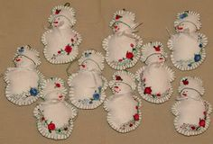 Sunshine's Creations.Vintage Threads Inc.: how to make an embroidered felt ornament