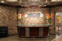 """Blend of Savannah Gray & Charlestowne Thin Brick for Display at High Point Furniture Mart - only 3/4"""" thick."""