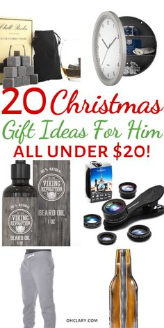 20 Cheap gifts for him for Christmas or Birthday! Perfect as inexpensive stocking stuffers! These meaningful and romantic presents are great for boyfriends, fiance, and husbands. Thoughtful and funny gifts on a budget for dad or your teen brother! Christmas Presents For Boyfriend, Christmas Presents For Dad, Presents For Him, Christmas Gifts For Him, Diy Gifts For Boyfriend, Gifts For Dad, Funny Boyfriend, Holiday Gifts, Christmas Stocking