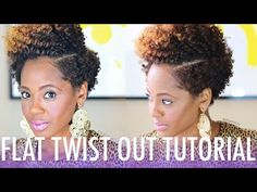 Flat Twist Out Tutorial - Cute! [Video] - Black Hair Information