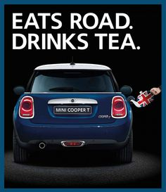 MINI Creates a Stir with the Cooper T The World's First Vehicle to be Powered by a Tea-Leaf Biofuel