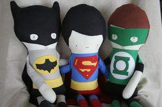Stuffed Doll, Rag Doll, Superman Doll, Superhero, Doll, Super Hero Doll, Action Figure Doll, Handmade Doll, Fabric Doll, Soft Toy, Boy Toy. $92.00, via Etsy.