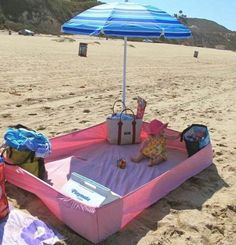 Headed to the beach with baby? Make your own beach play yard!