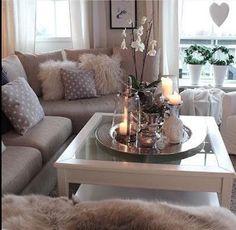 Living room grey white