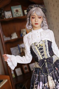 Arcadian Deer [Four Elements of Astrology - Fire Signs] Lolita Blouse