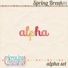 Spring Break alpha freebie from Piccolina Designs