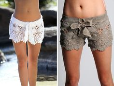 Lace Crochet Shorts for Women