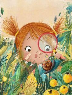 Illustration Girl, Children's Book Illustration, Character Illustration, Book Illustrations, Illustration Styles, Illustration Fashion, Dibujos Cute, Belle Photo, Cute Drawings