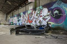 Graffiti Gembloers (B) July 2008 art kunst urban urbex decay streetart in a abandoned factory in Belgium Photo by: Jascha Hoste