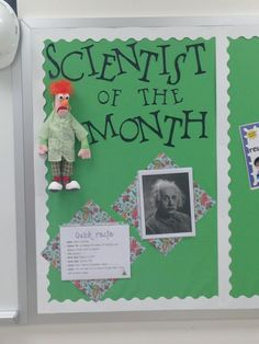 Would be cool to have a famous scientist of the month, and then a student scientist of the month.
