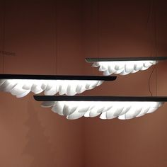 Plume suspension lighting by Constance Guisset for Fontana Arte at Euroluce
