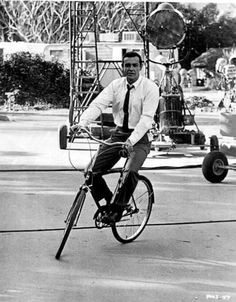 Sean Connery Rides A Bike: Fabulous Pictures of Famous People On Bikes : TreeHugger
