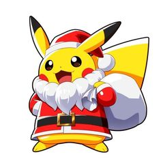 Pikachu now santachu. Are you love this type pokemon.