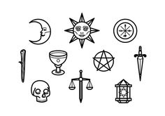 Choose from over a million free vectors, clipart graphics, vector art images, design templates, and illustrations created by artists worldwide! Flash Art Tattoos, Doodle Tattoo, Tattoo Drawings, Mini Tattoos, Small Tattoos, Stick Poke Tattoo, Tarot Tattoo, Spooky Tattoos, Witch Tattoo