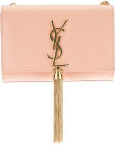 SAINT LAURENT Pink Small Cassandre Tassel Shoulder Bag - Lyst