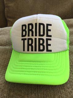50b99130c85 Bride Tribe Neon Green Tricker Hat