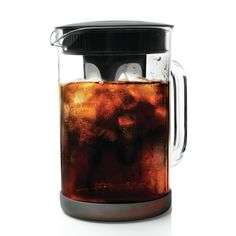 Primula Pace Cold Brew Coffee Maker - Drip Proof Lid and Filter Core - Makes Less Acidic Coffee Than Heat Brewed Coffee - BPA, PVC, Phthalate, and Lead Free - 51 Ounces - Black *** Find out more about the great product at the image link. Iced Coffee Maker, Cold Brew Iced Coffee, Making Cold Brew Coffee, Iced Tea, Coffee Drinks, Decaf Coffee, Coffee Brewer, Coffee Latte, Bunn Coffee