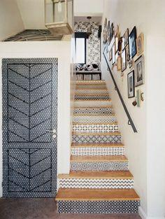 Of gebruik behang - Inspiratie! De trap | ELLE Decoration NL