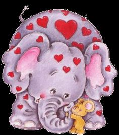 Ruth Morehead Cartoon Elephant, Elephant Love, Elephant Art, Cute Images, Cute Pictures, Illustrations, Illustration Art, Greeting Card Companies, Blue Nose Friends