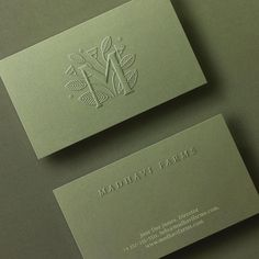 Pallavi Nopany - Sneak peak of wip from 2019 : Redoing the Identity for Madhavi Farms - an organic and aquaponics farm in… Business Cards Layout, Premium Business Cards, Luxury Business Cards, Business Card Logo, Creative Business Cards, Fashion Business Cards, Cute Business Cards, Embossed Business Cards, Letterpress Business Cards