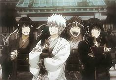 Gintama Ending 26 - Acchi Muite Manga Anime, Comic Anime, Anime Comics, Anime Art, Gintama Wallpaper, 4 Wallpaper, Katsura Kotaro, Silver Samurai, Anime Characters