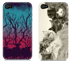 If I ever have to purchase an iphone which is hopefully never, I would choose the case on the right!  Cats on Mount Rushmore