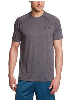 bc67e9ac1fb Under Armour Men s Size Tech Short Sleeve T-Shirt Carbon Heather Black