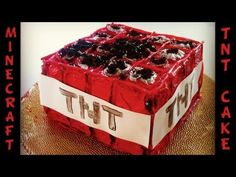 Real Life Minecraft How to make a TNT Block Cake
