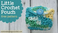 Crochet Purses Design Little Crochet Pouch - Quick and simple project - perfect to hold small objects or a pair of headphones! This little crochet pouch is also perfect for little children who like to keep their treasures safe :) Crochet Coin Purse, Crochet Pouch, Crochet Purses, Crochet Gifts, Crochet Dolls, Easy Crochet, Free Crochet, Crochet Bags, Crochet Buttons