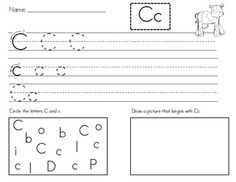 . Handwriting Worksheets For Kindergarten, Kindergarten Worksheets, Handwriting Alphabet, Handwriting Practice, Learning Letters, Learning Activities, Letter Identification, Beginning Sounds, Teacher Stuff