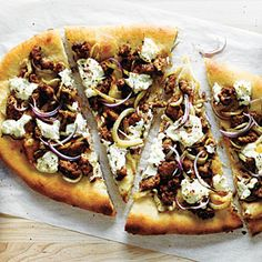 Sausage, Fennel, and Ricotta Pizza Recipe | MyRecipes.com-made this for dinner last night with wheat crust & sweet italian turkey sausage=deeeelish!