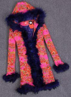 Boho Chic Faux-Fur Hooded Coat