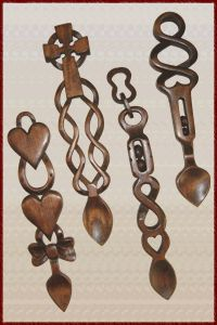 As a favor- the traditional Welsh love spoon, which was given to a woman by her suitor in Wales to prove he can provide for her. I have one of these!!