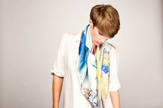 Foulards Esther Bonté Collection été 12 : Imaginary Escape www.estherbonte.com #summer #collection #scarf #scarves #foulard #escape #imaginary #imaginaryescape #summerlook #lovesummer #paris #france #mode #fashion #créateurfrançcais #frenchdesigner #créatrice #accessoire #accessories #accessory #nouages #print #graphic #Pure