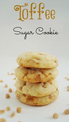 Toffee Sugar Cookies-better than recipe on bag.  Made 18 2oz cookies, flatten, bake 350 14 min. cool on pan.