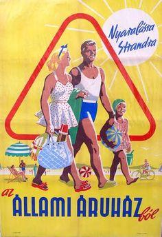 Vintage Advertisements, Vintage Ads, Travel Cards, School Posters, Old Ads, Illustrations And Posters, Vintage Patterns, Budapest, Childhood Memories
