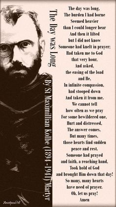 """Our Morning Offering – 14 August – The Memorial of St Maximillian Kolbe OFM Conv """"Martyr of Charity"""" Catholic Religion, Catholic Quotes, Catholic Prayers, Catholic Saints, Religious Quotes, Catholic Confirmation, Maximillian Kolbe, St Maximilian, Kneeling In Prayer"""
