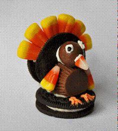 Thanksgiving Favors - Oreo Turkeys 11/25/09