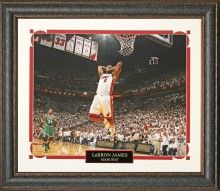 Lebron James, Miami Heat, 16x20 color image, matted and framed