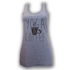 Yoga Coffee Racerback Tank - Yoga Coffee Shirt - Yoga Shirt - Coffee Shirt -  Workout Shirt - Gym Shirt - Yoga - Yoga Clothes - Yoga Top by MpressClothing on Etsy