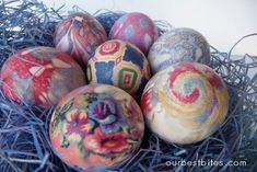 Much simpler version of dying eggs from silk ties. Beautiful!