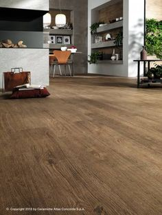The new soul of the wood look for a contemporary habitat Living Room Wood Floor, Living Room Flooring, Shabby Home, Attic Apartment, Wall Tiles, Tile Floor, Hardwood Floors, Sweet Home, House Design