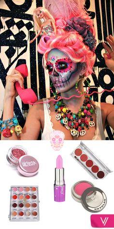 ¿Quieres disfrazarte de Catrina? Compra lo que necesitas de maquillaje en vorana.mx #Halloween #PinkCatrina