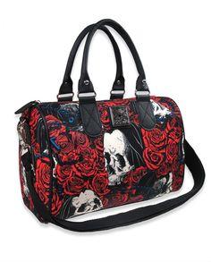 Inked Boutique - Rosary Handbag Skulls Roses Tattoo Punk http://www.inkedboutique.com