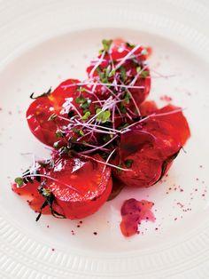 Recipe:ローストトマトとローズヒップジュレ/ふたつの甘酸っぱさが溶け合う #レシピ