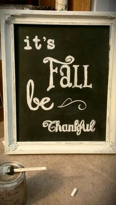 Fall chalk art